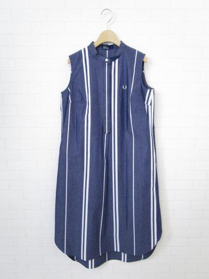 FRED PERRY - ストライプノースリーブシャツドレス