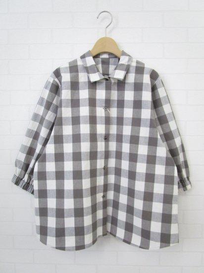 SARAHWEAR - ギンガムチェックプチカラーシャツ