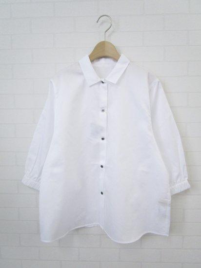 SARAHWEAR - コットンサテンプチカラーシャツ