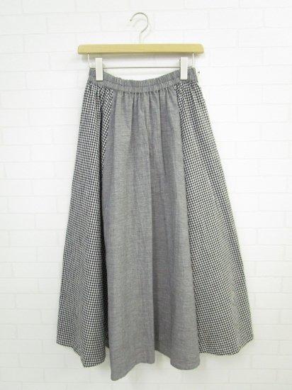 Le minor - 綿麻リネンチェック2Wayスカート