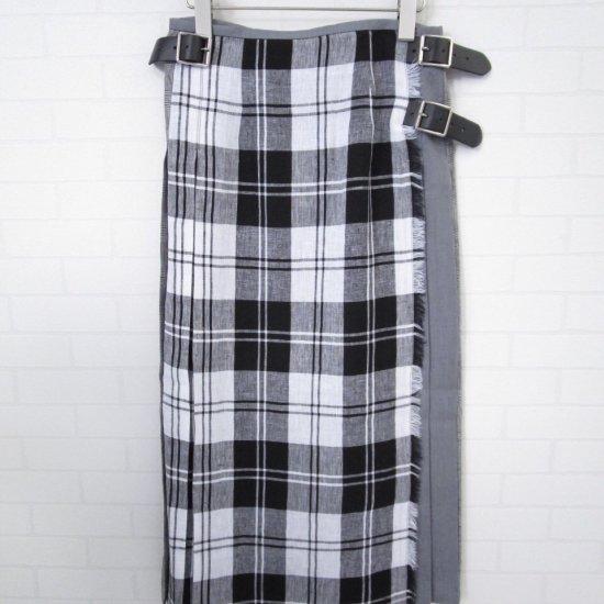 O'neil of Dublin - リネンクレージーパターンキルトスカート