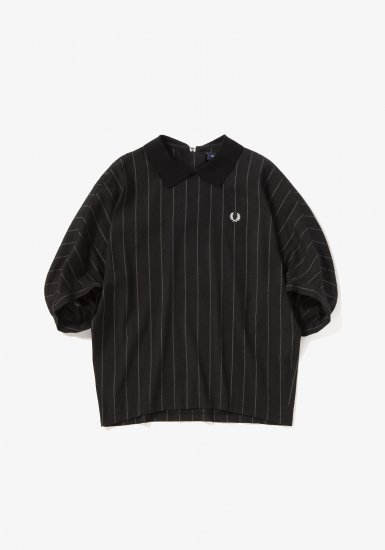 FRED PERRY - リブカラーストライプシャツ