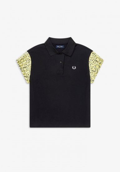 FRED PERRY - フローラルスリーブ ポロシャツ