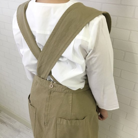 SARAHWEAR - 背中ペケポン 製品染めジャンパースカート