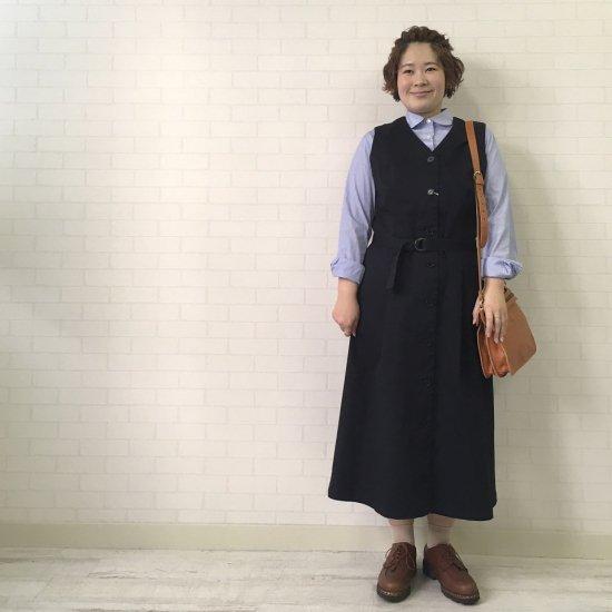 SARAHWEAR - チノストレッチ ベルト付ジャンパースカート