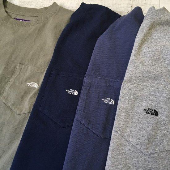 THE NORTH FACE PURPLE LABEL ロゴ ポケットTシャツ