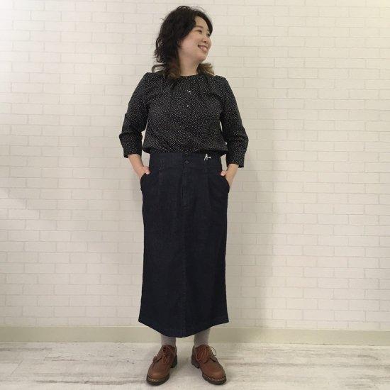 SARAHWEAR - インディゴデニム セミタイトスカート