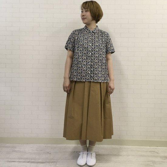 J.sloane - チビ襟 ヨークギャザーシャツ(リバティコレクション)