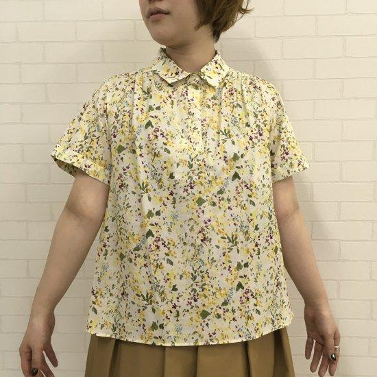 J,sloane - 60ローン水彩画風プリントのポロカラーシャツ