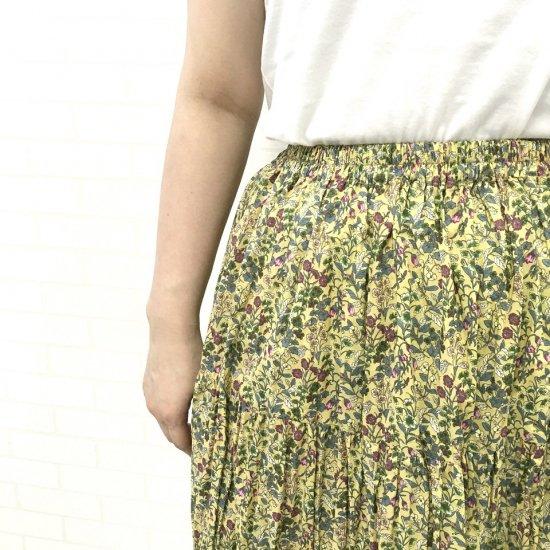 Rockmount - コットンフラワープリントティアードスカート(yellow)
