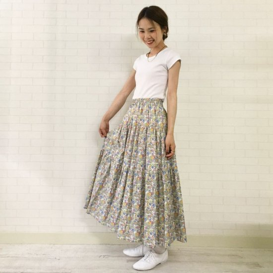 SARAHWEAR - 3段ティアードスカート(リバティコレクション)