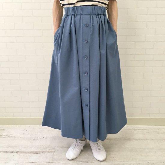 aqua fits - 前ボタンのウエストギャザースカート