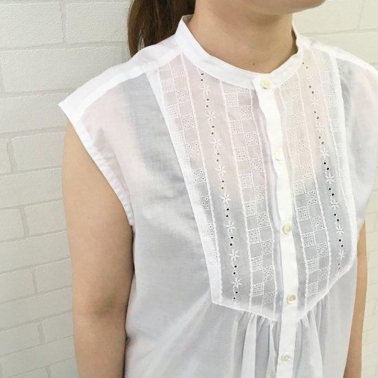 Le minor - ローンレース × 無地ノースリーブシャツ EL19038
