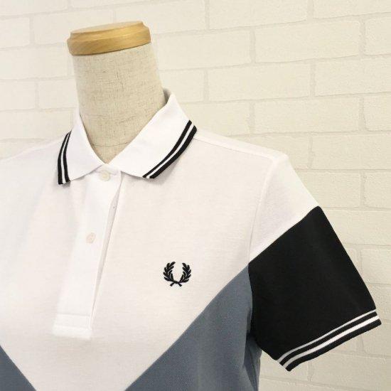 FRED PERRY - CHEVRON DETAIL POLO SHIRT 切替ポロシャツ(G8120)