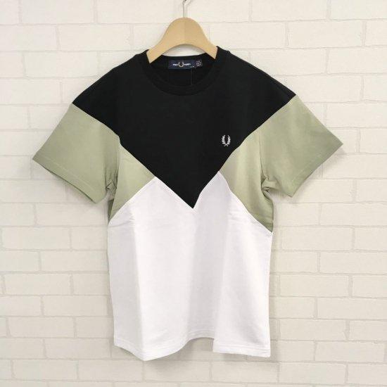 FRED PERRY - CHEVRON T-SHIRT  切替 Tシャツ(G8115)