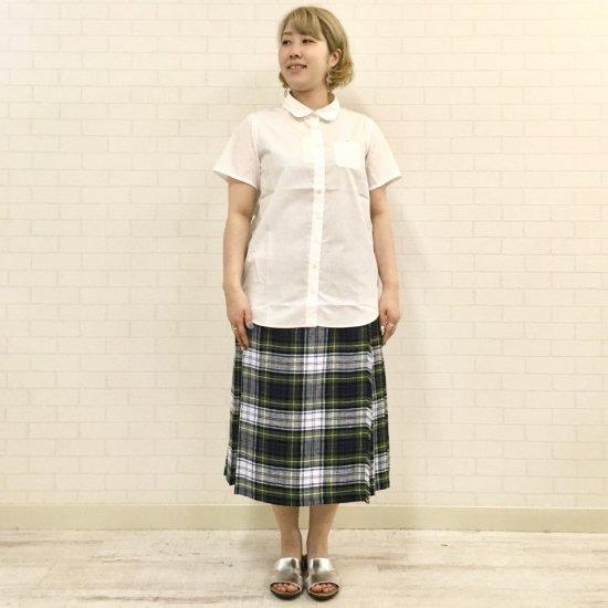 Parkes - ブロード丸衿 左胸ポケット〜人魚刺繍のブラウス