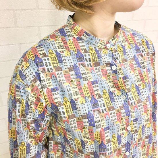 Parkes - バンドカラーシャツ(リバティコレクション)