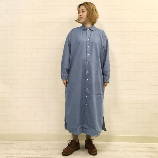 THE NORTH FACE PURPLE LABEL - Light Denim Shirt Dress (NTW3069N) 正規取扱品