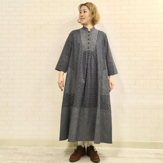 SARAHWEAR - Tomoyo リバティ切替 ドレス(C71092)