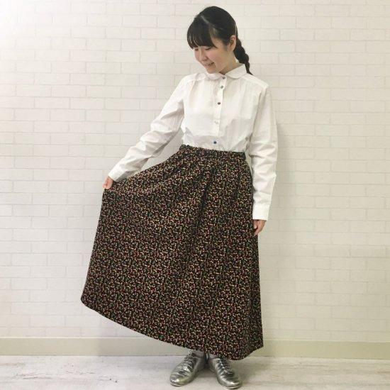 Parkes - コーディロイリバティ 裏地付ギャザースカート(リバティコレクション)