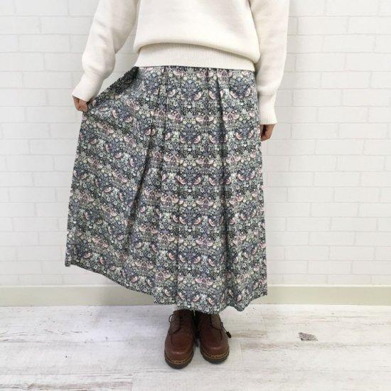 J.sloane - ウエスト総ゴムのプリーツスカート(リバティコレクション)