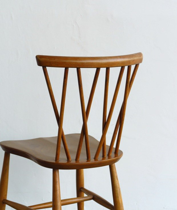 ERCOL Xback chair (bell shaped seat/H leg)[LY]