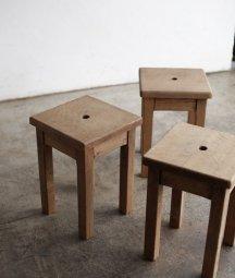solid oak stool[DY]