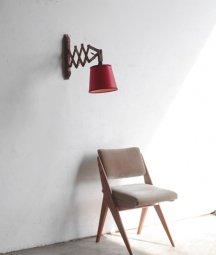 wood scissor lamp[LY]