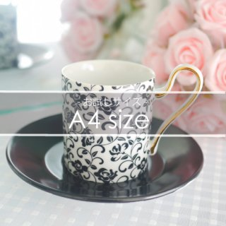 A4サイズ◇Rose arabesque-black-