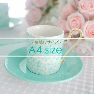 A4サイズ◇Rose arabesque-raffine blue-