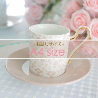 A4サイズ◇Rose arabesque-mist gray-
