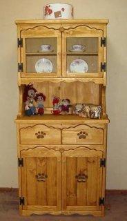 木製カップボード / 食器棚 / カントリー家具 / サイズW765×D400×H1660