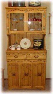 木製カップボード / 食器棚 / カントリー家具 / サイズW850×D420×H1760