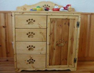 木製チェスト / 収納棚 / カントリー家具 / サイズW850×D400×H1050