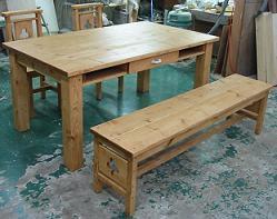 木製ダイニングテーブル / セット / 食卓テーブル / カントリー家具 / オーダー家具