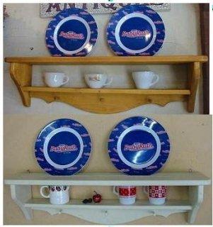 木製シェルフ / 飾り棚 / 絵皿立て / カントリー家具 / サイズW795×D160×H220