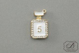 香水瓶型 5 デコレーション金具 白