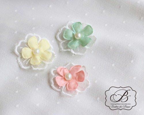 3カラー お花のモチーフ