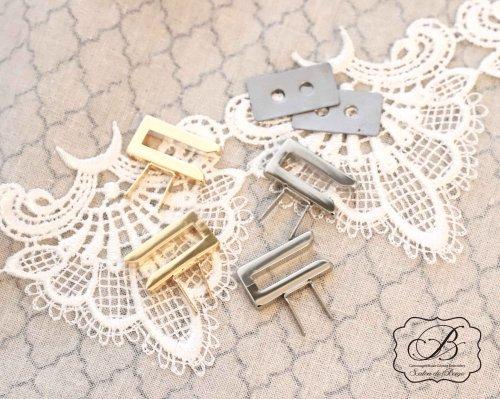 L字 金具2個セット ゴールド/シルバー
