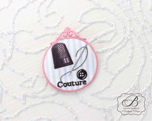 フランス製 Couture 針と糸 モチーフ