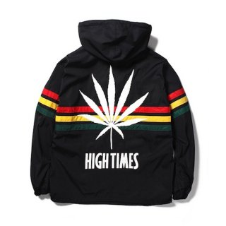 【WACKO MARIA】<br>×HIGHTIMES RASTA STRIPED LINE PULLOVER HOODED JACKET