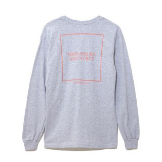 【WIND AND SEA】<BR>LONG SLEEVE CUT-SEWN SANTA CRUZ