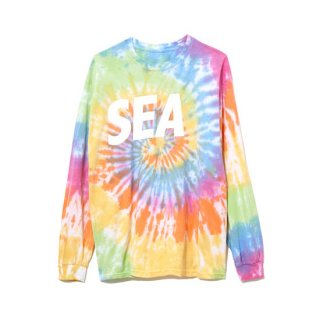【WIND AND SEA】<br>LONG SLEEVE CUT-SEWN TIEDYE