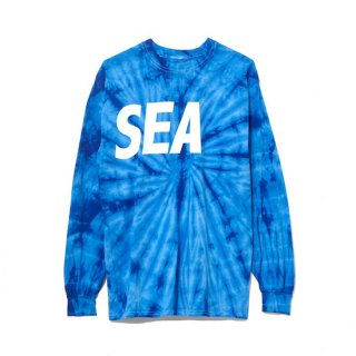 【WIND AND SEA】<br>LONG SLEEVE CUT-SEWN TIEDYE