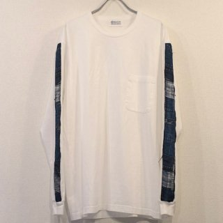 【KUON】<br>Boro Trimmed Long Sleeve T-Shirt