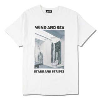 【WIND AND SEA】<br>WDS (STAR AND STRIPES) PHOTO T-SHIRT