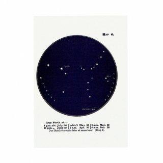 アンティークプリント 天文学・星座(ぎょしゃ座/ペルセウス座MAP6)