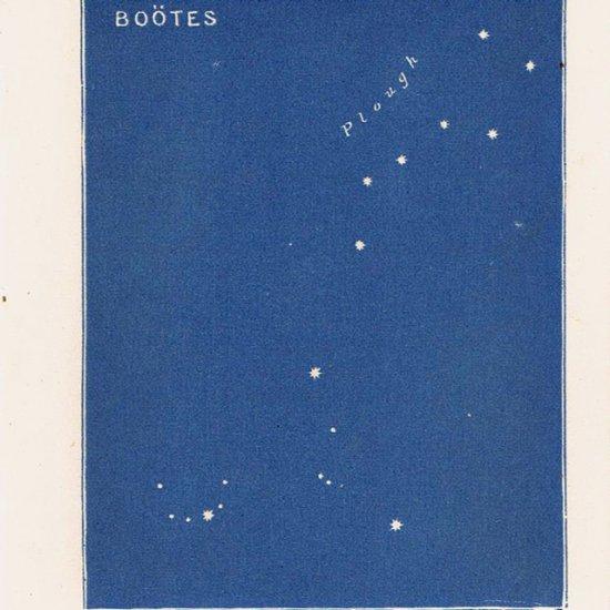 アンティークプリント 天文学・星座 BOOTES(うしかい座)
