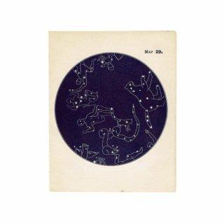 アンティークプリント 天文学・星座(MAP29)