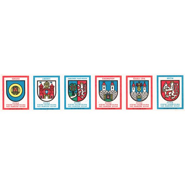 チェコのマッチラベル(未裁断)ČESKÁ STÁTNÍ SPOŘITELNA
